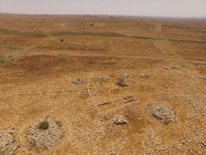 Excavated portions on the ridge at Rujm al-Hiri. Photo: ACH