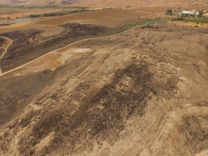 Aerial shot of Tel Yaqush (Photo: ACH)
