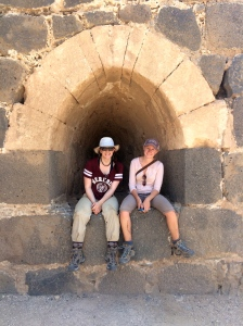 GD (left) and SC (right) at the Crusader castle of Belvoir.